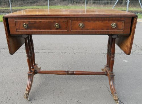 Mahogany Regency Style Sofa Writing Table